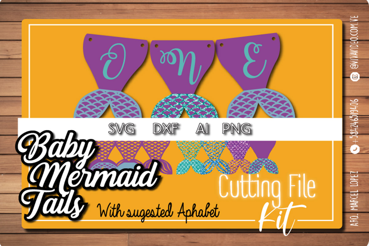 Download Free Baby Mermaid Tails Graphic By Marcel De Cisneros Creative Fabrica for Cricut Explore, Silhouette and other cutting machines.