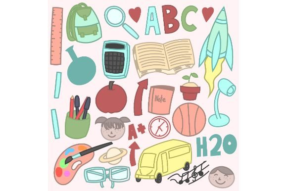 Back to School Doodles Graphic Icons By firdausm601