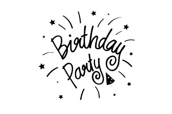 Download Free Beautiful Birthday Party Graphic By Firdausm601 Creative Fabrica for Cricut Explore, Silhouette and other cutting machines.