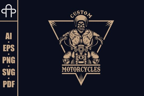 Download Free Biker Motorcycles Illustration Graphic By Andypp Creative Fabrica for Cricut Explore, Silhouette and other cutting machines.