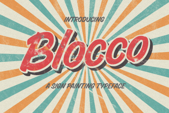 Print on Demand: Blocco Display Font By typealiens