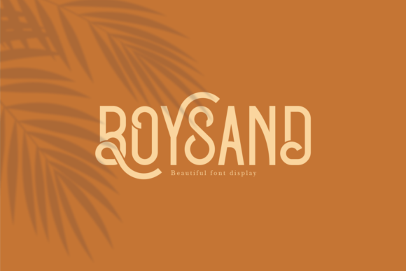 Print on Demand: Boysand Display Font By Line creative - Image 1