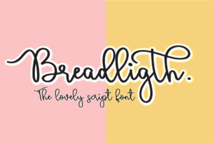 Print on Demand: Bread Ligth Script & Handwritten Font By Sulthan Studio