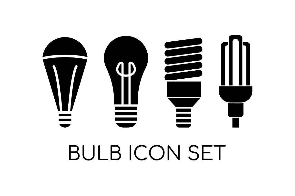 Download Free Bulb Light Icon Set Collection Graphic By Hoeda80 Creative Fabrica for Cricut Explore, Silhouette and other cutting machines.