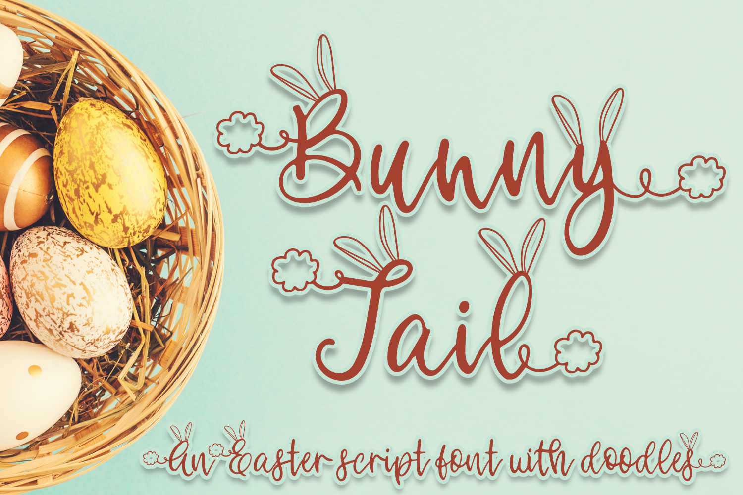 Download Free Bunny Tail Font By Freelingdesignhouse Creative Fabrica for Cricut Explore, Silhouette and other cutting machines.
