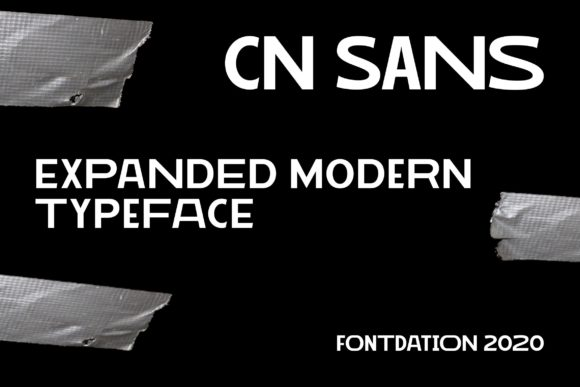 Print on Demand: CN Sans Sans Serif Font By Fontdation