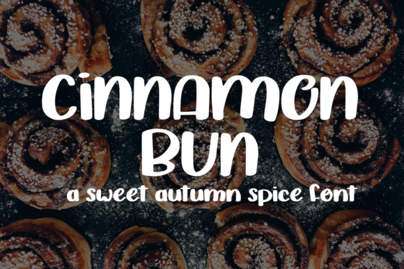 Print on Demand: Cinnamon Bun Script & Handwritten Font By amber_nest