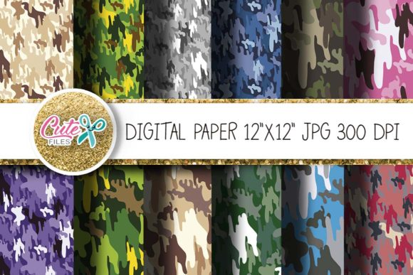 Download Free Colorful Camouflage Texture Grafik Von Cute Files Creative Fabrica for Cricut Explore, Silhouette and other cutting machines.