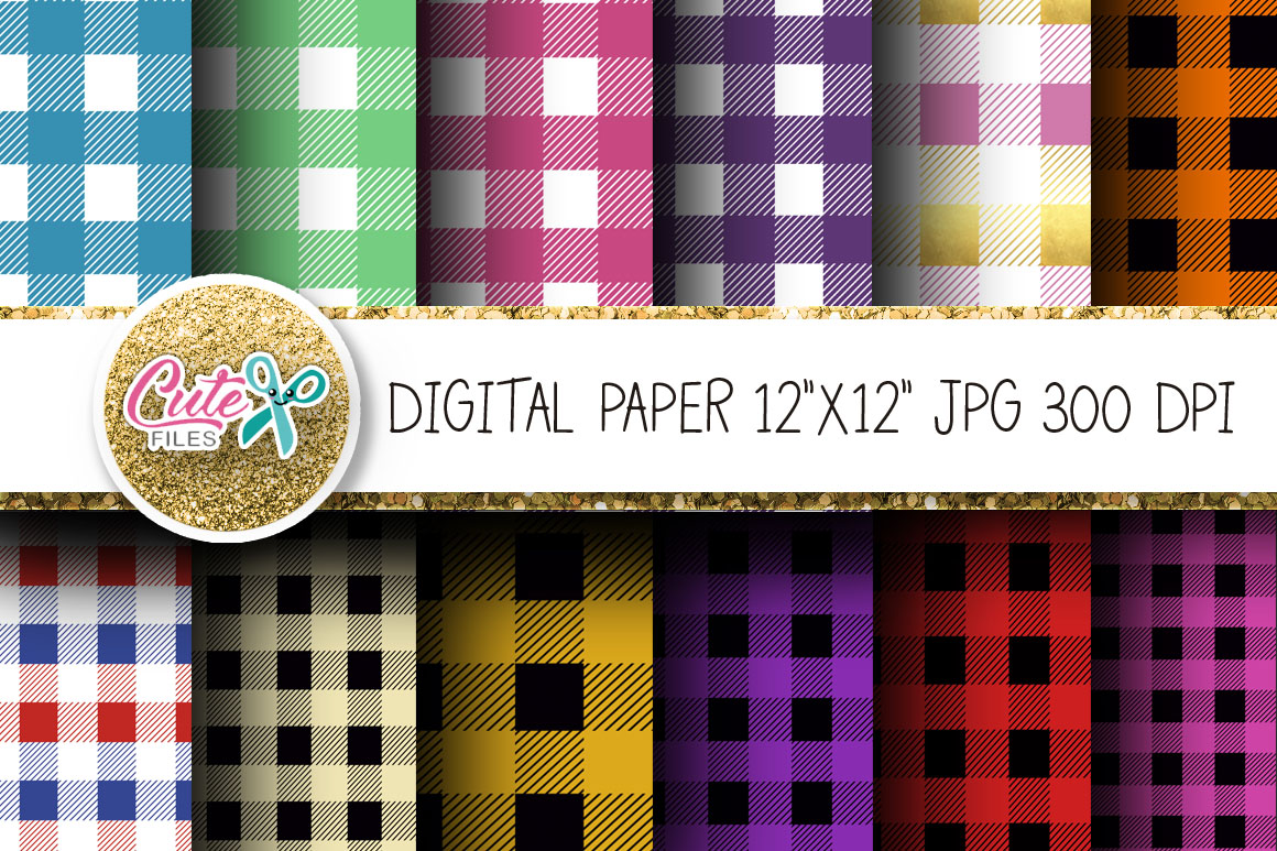 Download Free Colorful Tartan Buffalo Plaid Digital Graphic By Cute Files for Cricut Explore, Silhouette and other cutting machines.