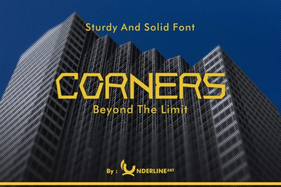 Print on Demand: Corners Display Font By IUnderline Art