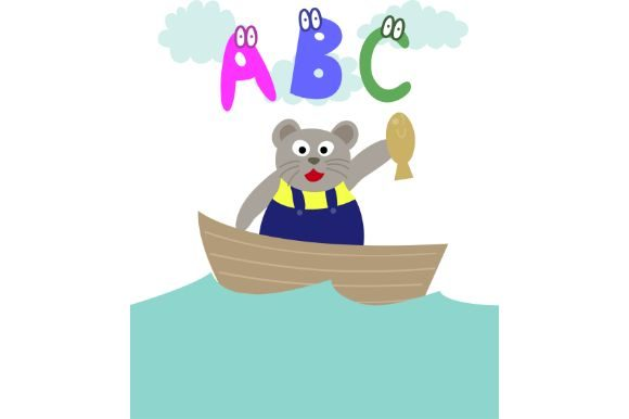 Download Free Cute Bear Cartoon Abcs Alphabet Graphic By Firdausm601 for Cricut Explore, Silhouette and other cutting machines.