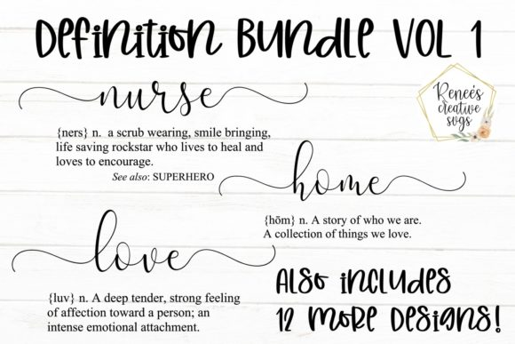 Print on Demand: Definition Bundle Graphic Crafts By ReneesCreativeSVGs - Image 1