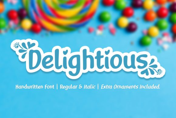 Print on Demand: Delightious Script & Handwritten Font By Jasm (7NTypes)