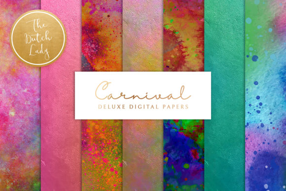 Print on Demand: Digital Backgrounds Carnival & Holi Graphic Backgrounds By daphnepopuliers