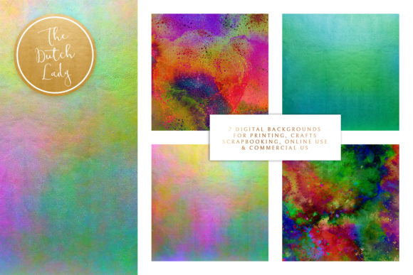 Print on Demand: Digital Backgrounds Carnival & Holi Graphic Backgrounds By daphnepopuliers - Image 2