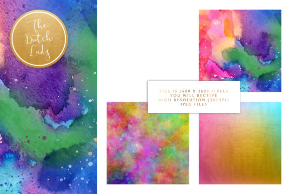Print on Demand: Digital Backgrounds Carnival & Holi Graphic Backgrounds By daphnepopuliers - Image 3