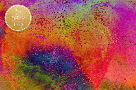 Print on Demand: Digital Backgrounds Carnival & Holi Graphic Backgrounds By daphnepopuliers - Image 4