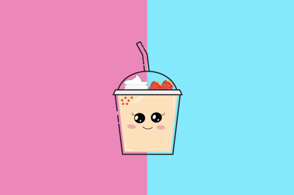 Download Free Drink Kawaii Cute Illustration Graphic By Purplebubble for Cricut Explore, Silhouette and other cutting machines.