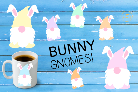 Print on Demand: Easter Bunny Gnomes Graphic Illustrations By jpjournalsandbooks
