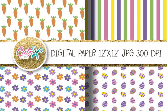 Easter Digital Paper for Crafters Graphic Textures By Cute files - Image 2