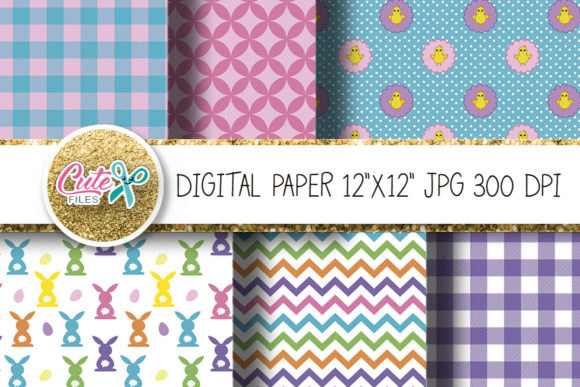 Easter Digital Paper for Crafters Graphic Textures By Cute files - Image 3