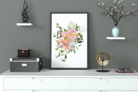 Eggshell & Blush Floral Bouquet Clipart Graphic Illustrations By Patishop Art - Image 11