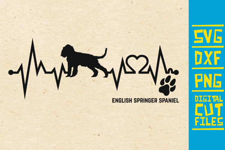 Download Free English Springer Spaniel Dog Svg Graphic By Svgyeahyouknowme for Cricut Explore, Silhouette and other cutting machines.