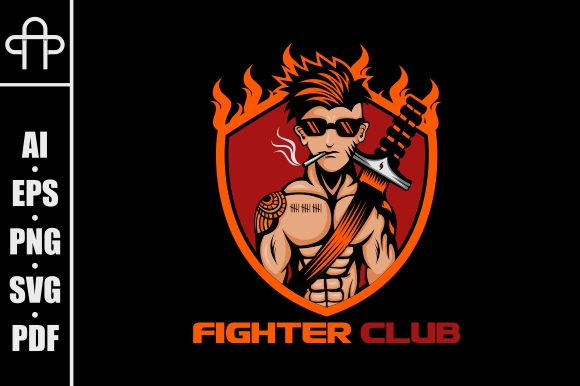Download Free Fighter Club Graphic By Andypp Creative Fabrica for Cricut Explore, Silhouette and other cutting machines.