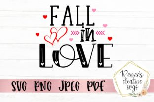 Download Free Fall In Love Graphic By Reneescreativesvgs Creative Fabrica for Cricut Explore, Silhouette and other cutting machines.