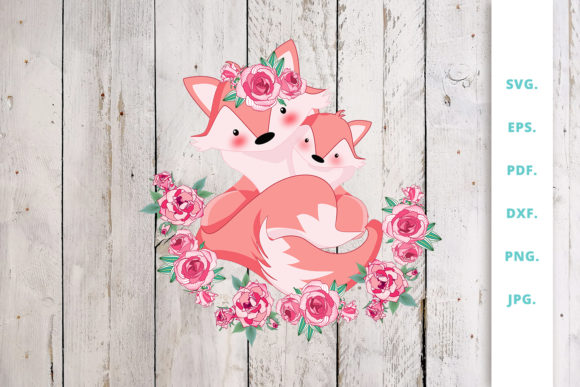 Print on Demand: Floral Foxes Graphics and Illustration 1 Graphic Illustrations By Sintegra