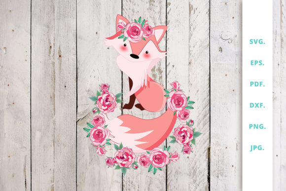 Download Free Floral Fox Graphic By Sintegra Creative Fabrica for Cricut Explore, Silhouette and other cutting machines.