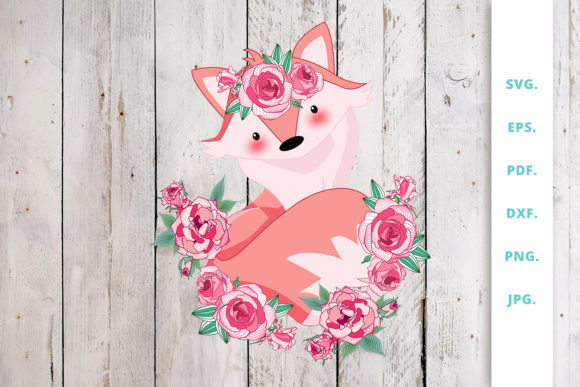 Print on Demand: Floral Foxes Graphics and Illustration 4 Graphic Illustrations By Sintegra