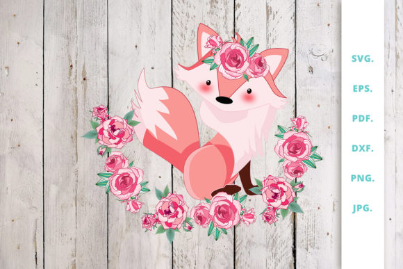 Print on Demand: Floral Foxes Graphics and Illustration 6 Graphic Illustrations By Sintegra