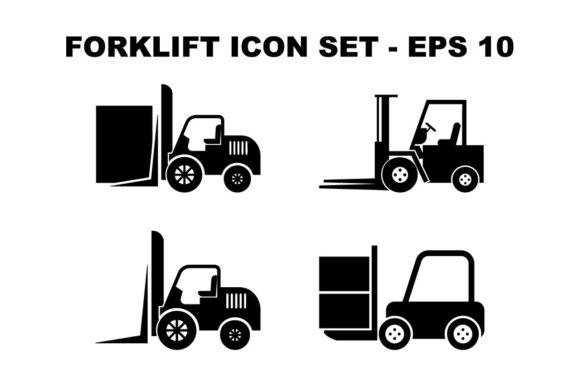 Download Free Forklift Truck Icon Set Bundle Graphic By Hoeda80 Creative Fabrica for Cricut Explore, Silhouette and other cutting machines.