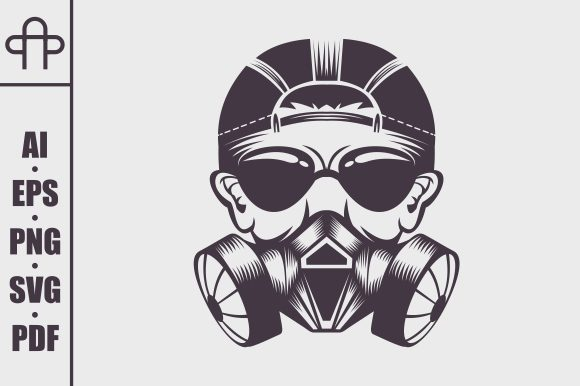 Download Free Gas Mask Man Graphic By Andypp Creative Fabrica for Cricut Explore, Silhouette and other cutting machines.