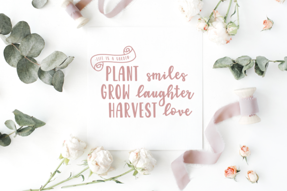 Download Free Garden Fancy Duo Font By The Pretty Letters Creative Fabrica SVG Cut Files