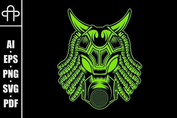Download Free Gas Mask Monster Head Graphic By Andypp Creative Fabrica for Cricut Explore, Silhouette and other cutting machines.