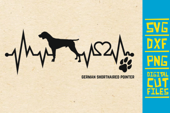 Download Free German Shorthaired Pointer Dog Svg Graphic By Svgyeahyouknowme Creative Fabrica for Cricut Explore, Silhouette and other cutting machines.