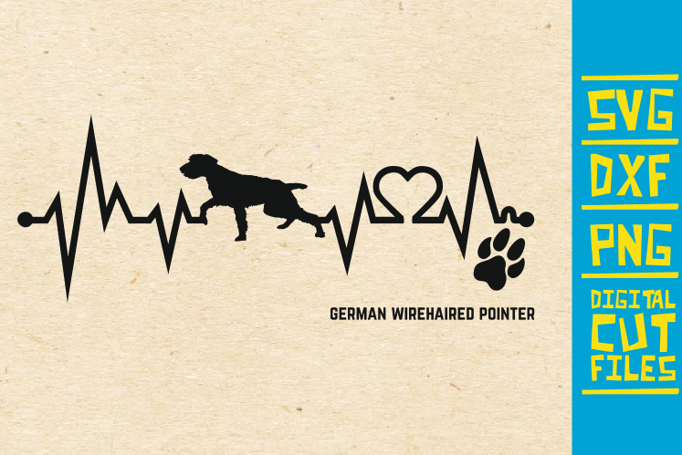 Download Free German Wirehaired Pointer Dog Svg Graphic By Svgyeahyouknowme for Cricut Explore, Silhouette and other cutting machines.
