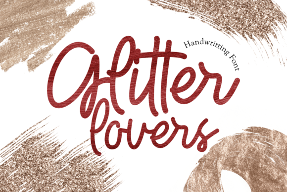 Print on Demand: Glitter Lovers Display Font By figuree studio