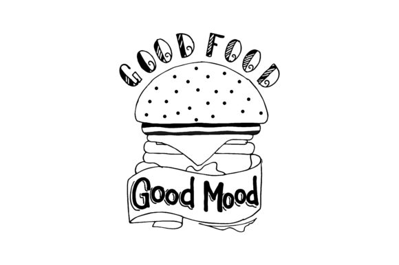 Download Free Good Food Good Mood Graphic By Chairul Ma Arif Creative Fabrica for Cricut Explore, Silhouette and other cutting machines.