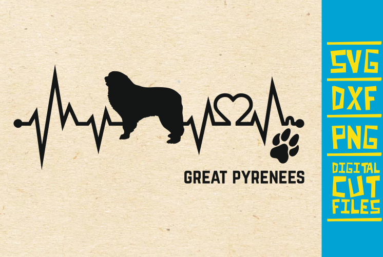 Great Pyrenees Dog Svg Graphic By Svgyeahyouknowme Creative