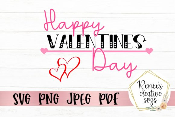 Download Free Happy Valentine S Day Graphic By Reneescreativesvgs Creative for Cricut Explore, Silhouette and other cutting machines.