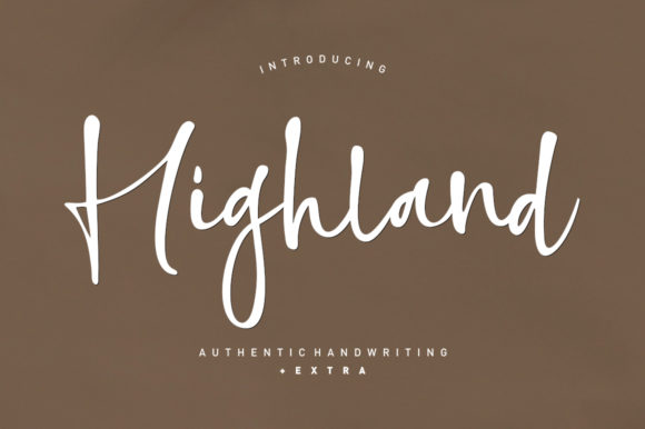 Print on Demand: Highland Script & Handwritten Font By Area Type