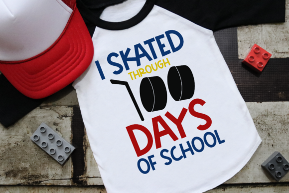 Download Free I Skated Through 100 Days Hockey Graphic By Morgan Day Designs for Cricut Explore, Silhouette and other cutting machines.