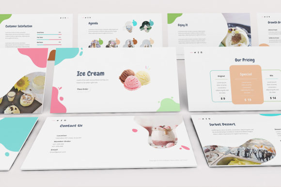 Download Free Ice Cream Powerpoint Template Graphic By Formatikastd Creative for Cricut Explore, Silhouette and other cutting machines.