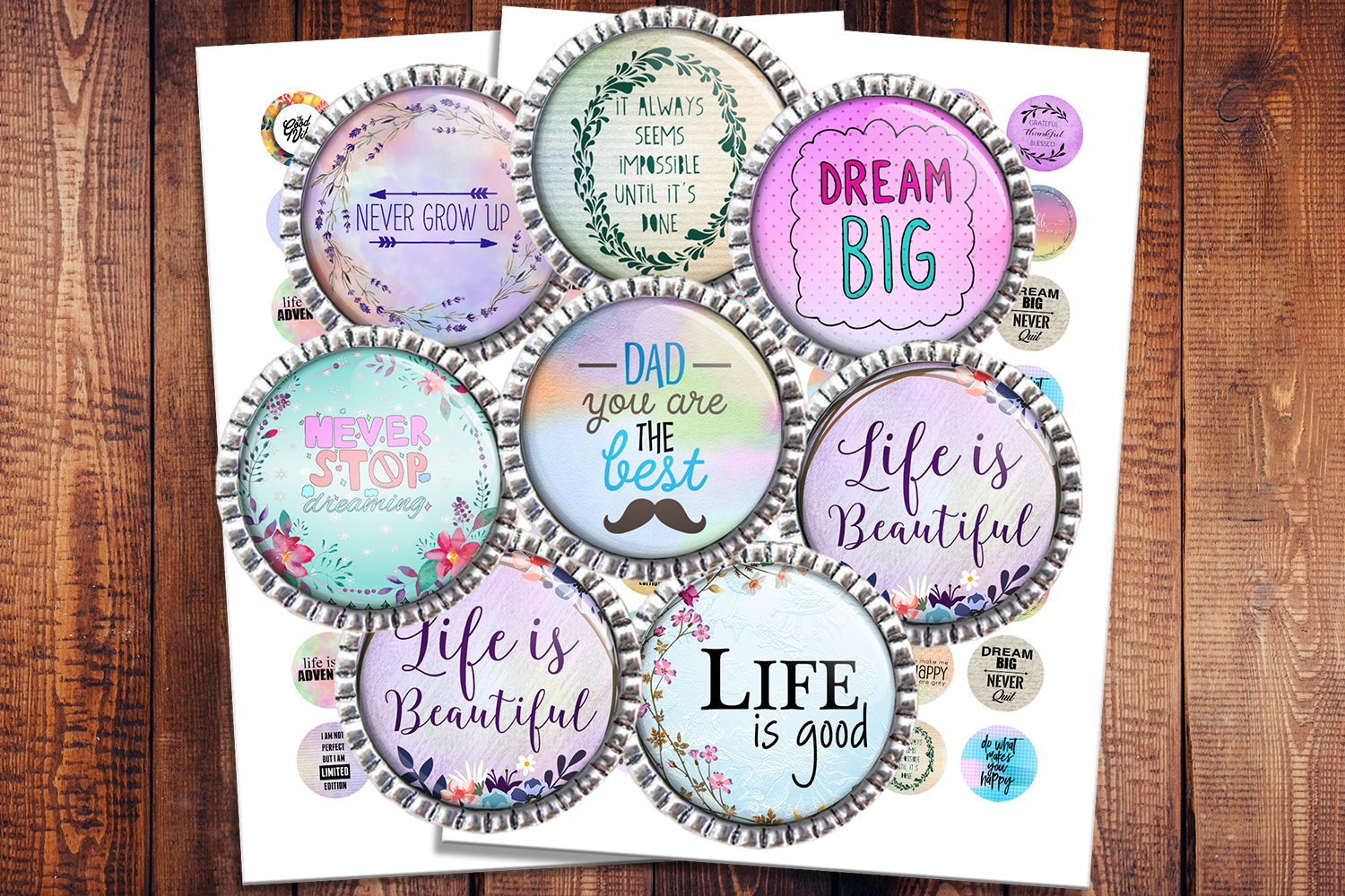 Download Free Inspirational Quotes Graphic By Denysdigitalshop Creative Fabrica for Cricut Explore, Silhouette and other cutting machines.