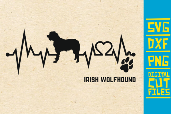 Download Free Irish Wolfhound Dog Svg Graphic By Svgyeahyouknowme Creative for Cricut Explore, Silhouette and other cutting machines.