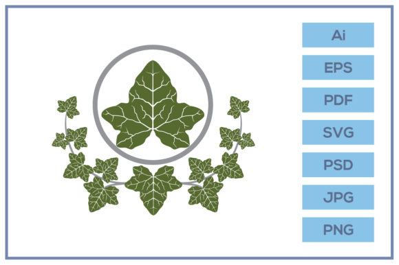 Print on Demand: Ivy Leaf Design Graphic Icons By leamsign