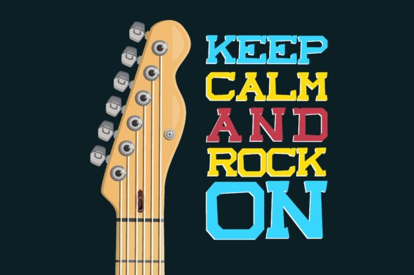 Download Free Keep Calm And Rock On Graphic By Chairul Ma Arif Creative Fabrica for Cricut Explore, Silhouette and other cutting machines.